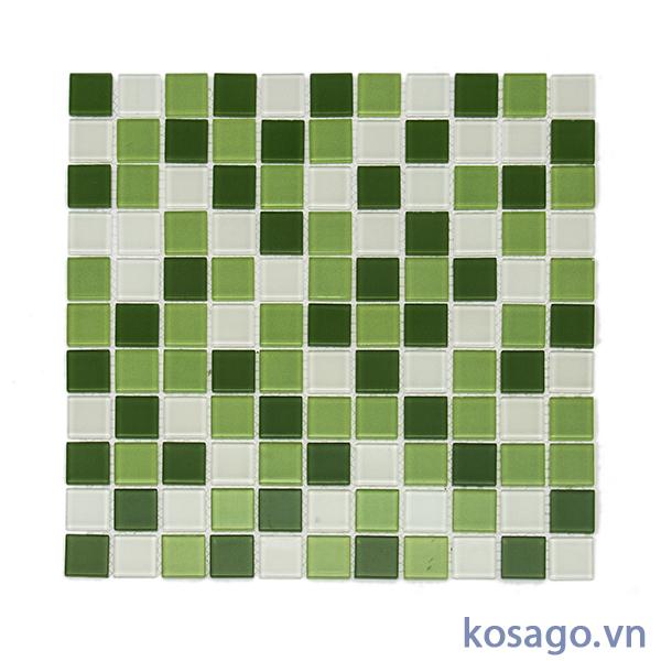 Gạch Mosaic xanh trắng