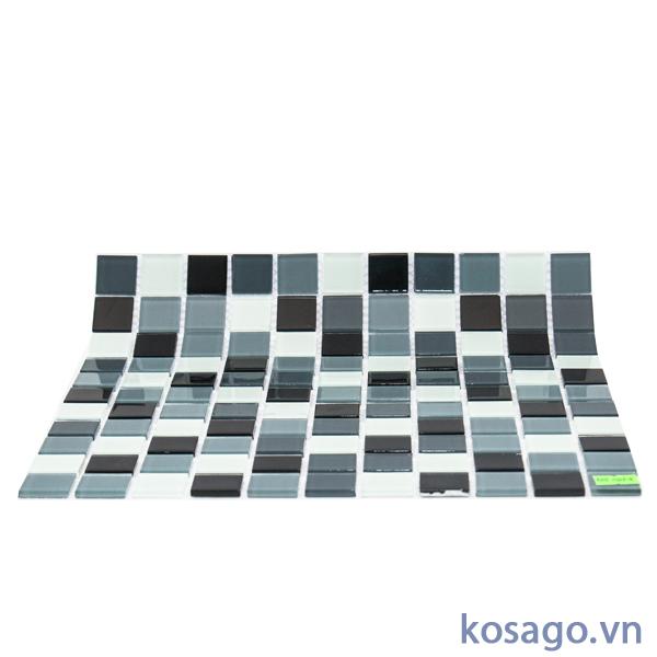 Gạch mosaic đen trắng 2