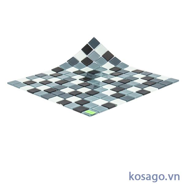 Gạch mosaic đen trắng