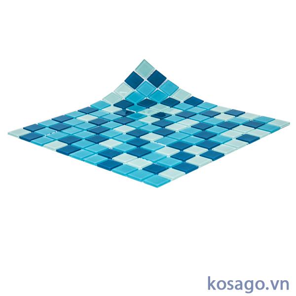 Gạch mosaic màu xanh dương ốp lát bể bơi (hồ bơi) đẹp