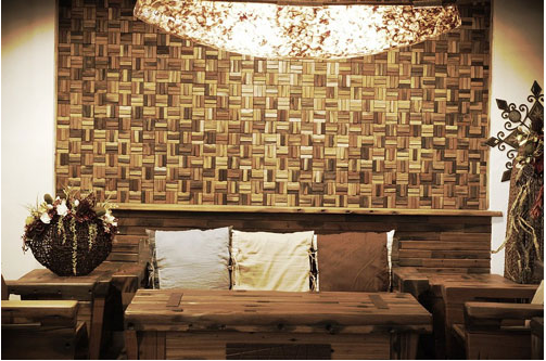 Gạch mosaic cho phòng khách