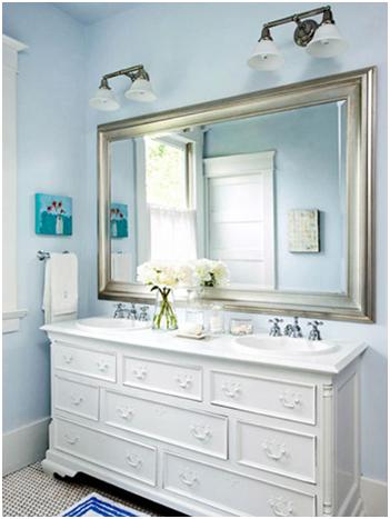 Lắp gương trong nhà tắm