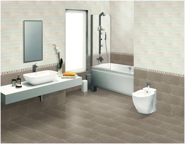 Nhà tắm sử dụng gạch ốp Viglacera Ceramic