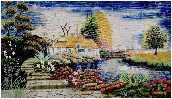 Bức tranh đồng quê từ nghệ thuật Mosaic