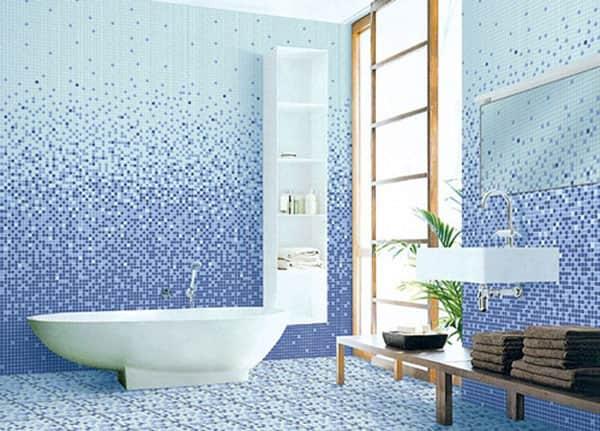 Gạch Mosaic màu xanh đích thị gia chủ mang mệnh Mộc