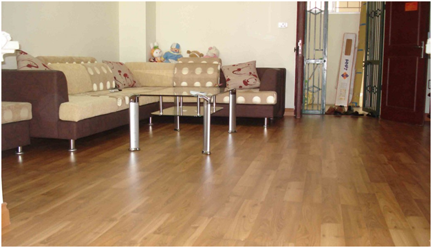 sàn nhựa giả gỗ mang đến không gian lịch sự, thoáng mát cho căn phòng của bạn