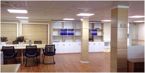 Sàn nhựa giả gỗ áp dụng cho không gian văn phòng