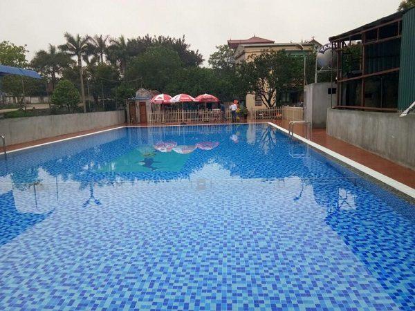 Bilico phân phối gạch kính Mosaic hoàn thiện công trình hồ bơi Lan Xuyên – Đông Anh – Hà Nội
