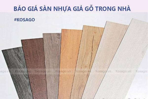 báo giá sàn nhựa giả gỗ tại hải phòng