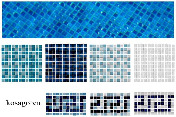 Gạch mosaic ốp lát bể bơi (hồ bơi) đẹp