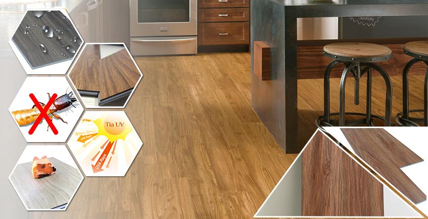 Đặc điểm sàn nhựa giả gỗ trong nhà SPC 6008 -1