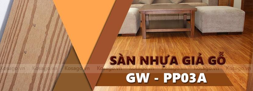 Sàn nhựa giả gỗ ngoài trời GW – PP03A