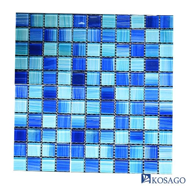 Kosago lắp đặt gạch mosaic thi công bể bơi ông Huân, Nha Trang