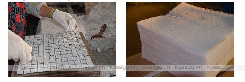 Hình ảnh xưởng sản xuất gạch mosaic BV003