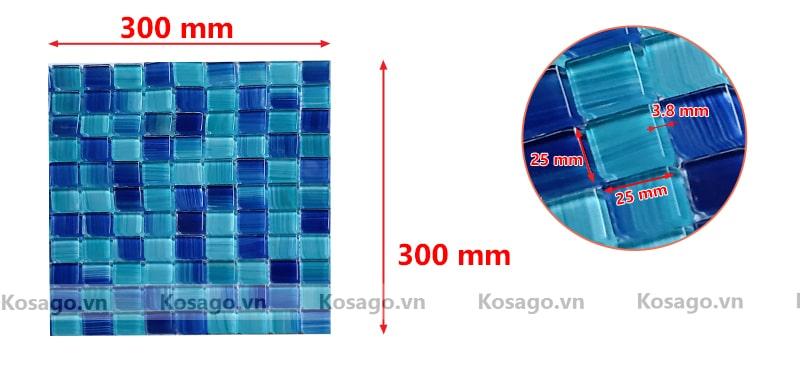 Kích thước của gạch mosaic BV003