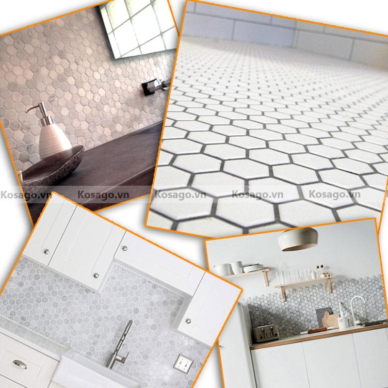 Ứng dụng gạch mosaic BV013