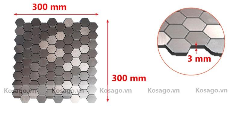 Kích thước gạch mosaic BV013