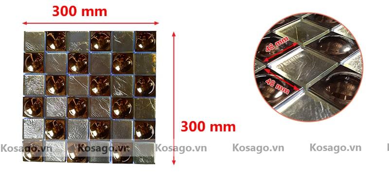 Kích thước gạch mosaic BV014