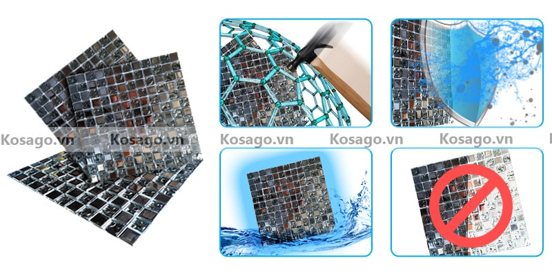 Đặc điểm nổi bật của gạch mosaic trang trí thủy tinh BV007