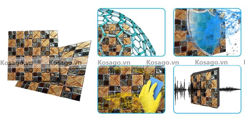 Đặc điểm nổi bật của gạch mosaic thủy tinh BV015