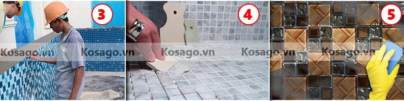Hướng dẫn lắp đặt gạch mosaic BV015