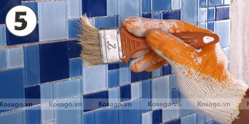 Hướng dẫn ốp lát gạch trang trí mosaic BV018 - Bước 5