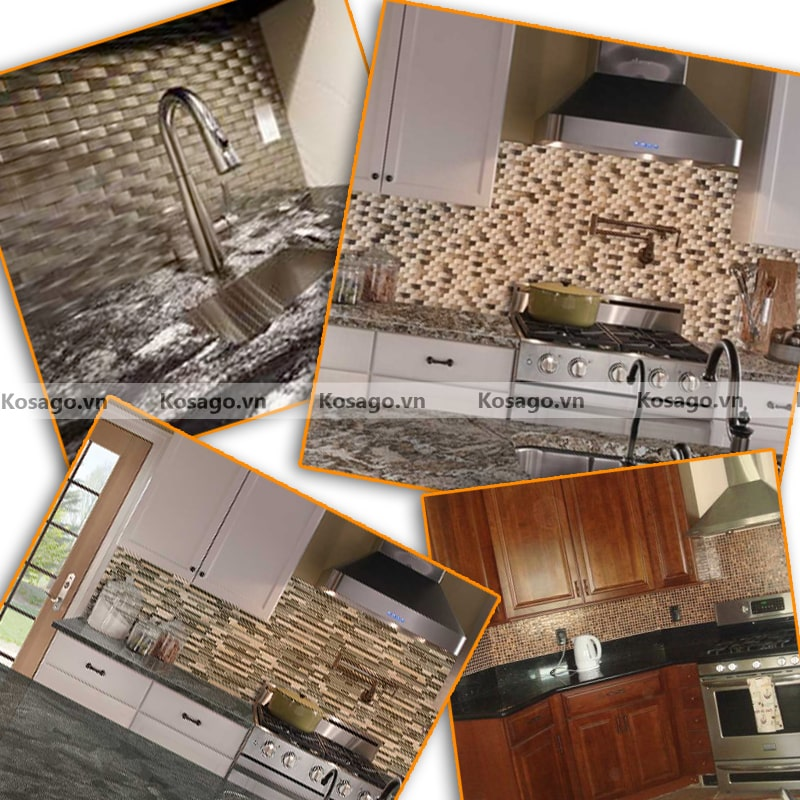 Ứng dụng của gạch mosaic trang trí BV018
