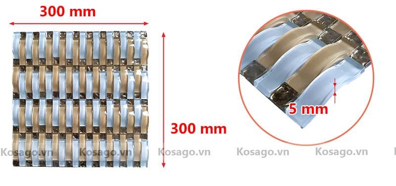 Kích thước sản phẩm gạch mosaic BV018