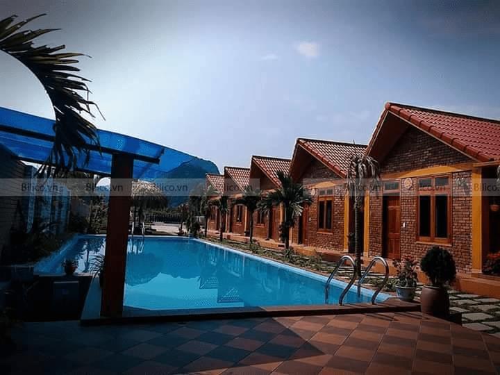 Kosago ốp lát gạch mosaic bể bơi anh Tuấn, Phong Nha Kẻ Bàng