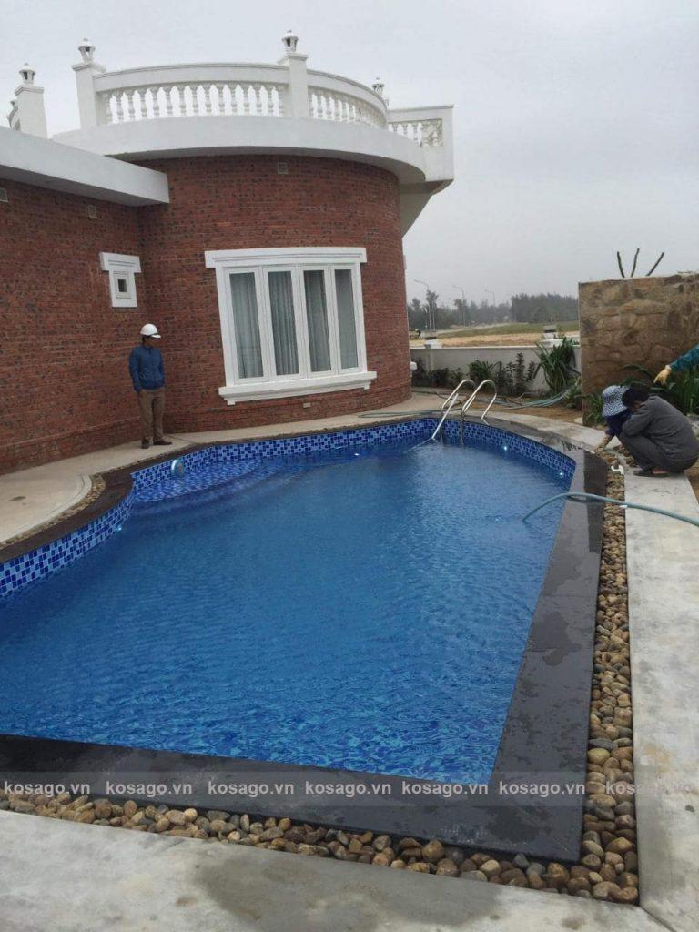Kosago hoàn thiện công trình bể bơi Nghi Xuân - Hà Tĩnh