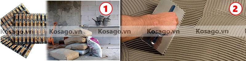 Hướng dẫn ốp lát mẫu gạch mosaic BV019