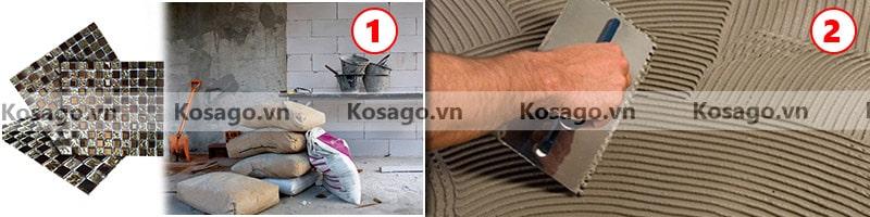 Hướng dẫn lắp đặt gạch mosaic BV020
