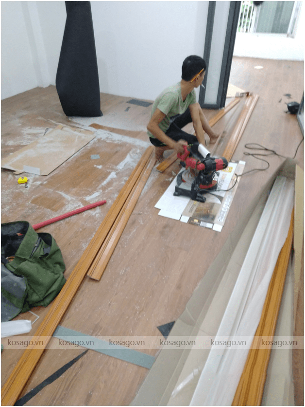 Đặc điểm nổi bật của sàn nhựa giả gỗ cho công trình công ty Tấn Dương