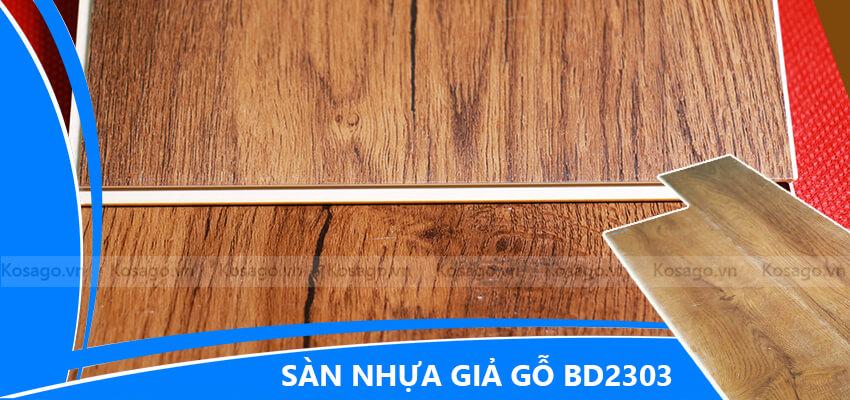sàn nhựa giả gỗ trong nhà bd2303