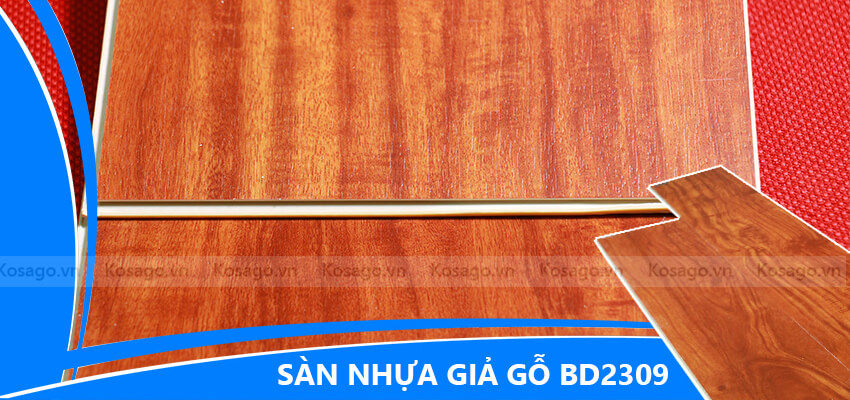 Sàn nhựa giả gỗ trong nhà BD2309