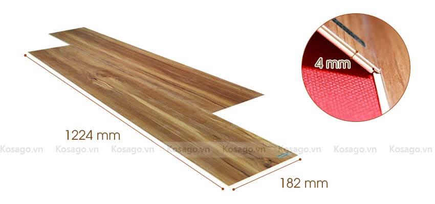 Thông số sàn nhựa giả gỗ trong nhà bd1023