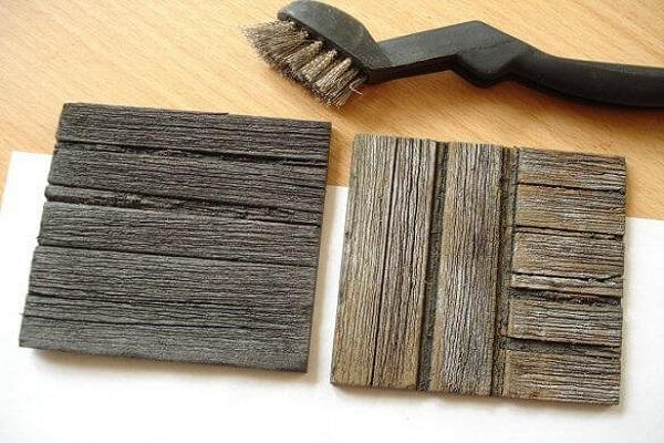 gạch giả gỗ cho tiểu cảnh