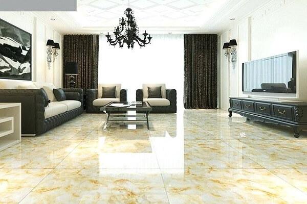 mẫu gạch lát nền phòng khách đẹp