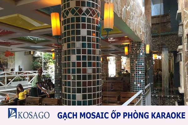 Chọn gạch mosaic ốp phòng karaoke