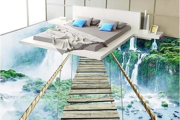 Gạch tranh 3D ốp phòng ngủ