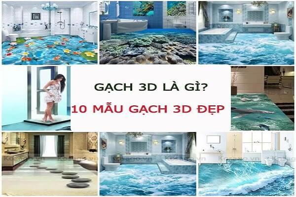 Gạch tranh 3D là gì? 10 mẫu gạch 3D ốp lát cực đẹp