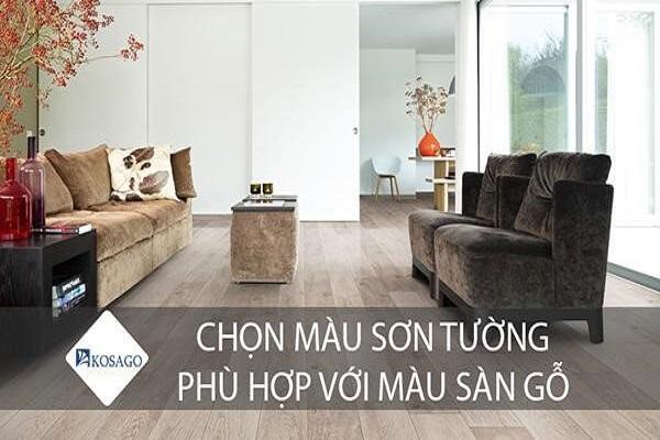 Sàn gỗ sơn tường màu gì