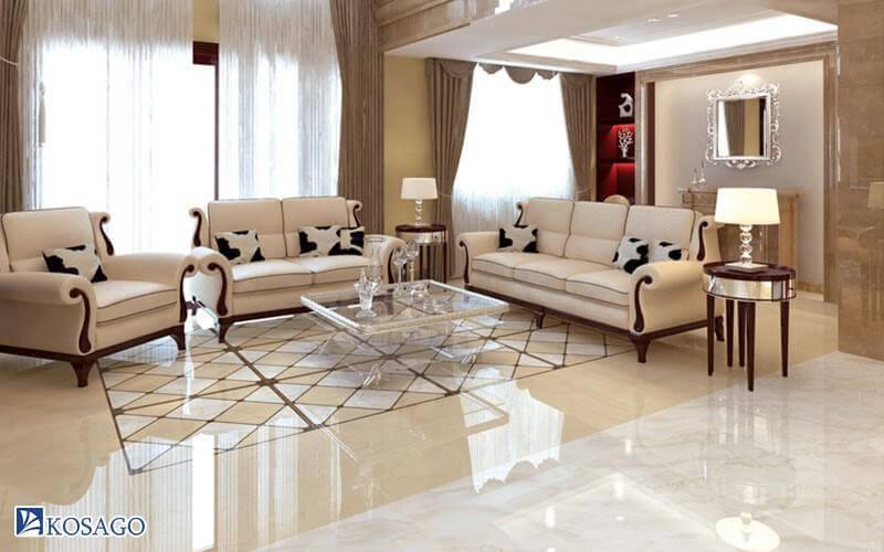 kinh nghiệm chọn gạch lát theo không gian phòng khách