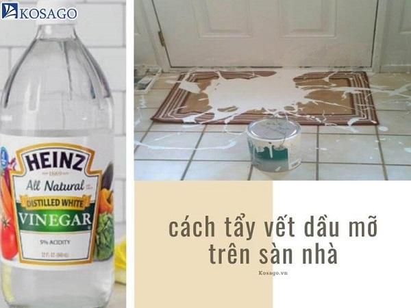 Cách tẩy vết dầu mỡ trên sàn nhà hiệu quả