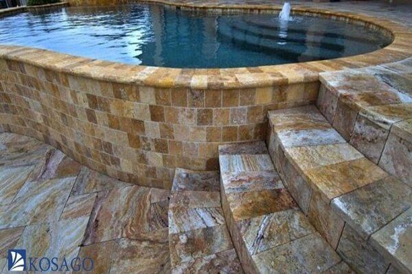 đá tự nhiên ốp lát bể bơi