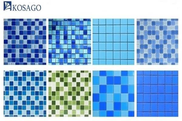 lựa chọn màu sắc các loại gạch ốp bể bơi