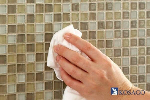 ưu điểm gạch mosaic dễ lau chùi
