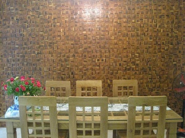 """Vẻ đẹp """"không tuổi"""" của gạch mosaiccao cấp gỗ trong kiến trúc tường nhà"""