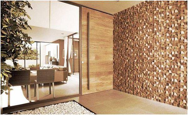 Tái tạo không gian mộc mạc, giản dị với gạch mosaic gỗ