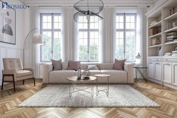 chọn kích thước gạch mosaic theo đặc điểm phong cách kiến trúc